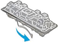 """Инструкция за смяна на тонер касета HP CF230X без чип: """"Издърпайте предпазната лента и махнете пластмасовия протектор"""""""