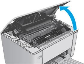 """Инструкция за смяна на тонер касета HP CF 230A: """"отворете капака"""""""